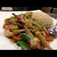 Aura Thai Restaurants That Deliver Fresh Ginger Rice Dish Stir Fried With Onions Mushrooms Carrots