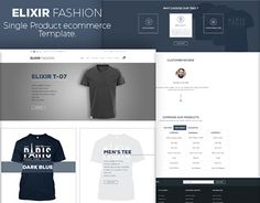 """Check out new work on my @Behance portfolio: """"Elixir – Single Product eCommerce Template"""" http://be.net/gallery/31945395/Elixir-Single-Product-eCommerce-Template"""