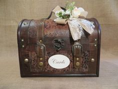 Pick your colors Wedding Trunk Wedding Card by TheHauteBoxBoutique, $55.95