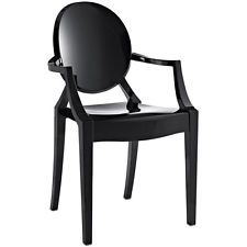 Louis Style Acrylic Chair in Black