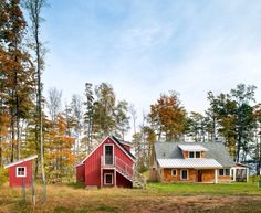 Located by Lake Superior, this sq ft cottage offers a cozy retreat in the woods. It has one bedroom, two bathrooms and comes with a. Lakeside Cottage, Lake Cottage, Red Cottage, Cottage Homes, Cottage Design, Tiny House Design, Red Houses, Small Houses, Eco Cabin