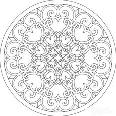 Lovely spring mandala. Would also be great for Valentine's Day Shala Kerrigan http://www.familyholiday.net/unique-spring-easter-holiday-adult-coloring-pages-designs