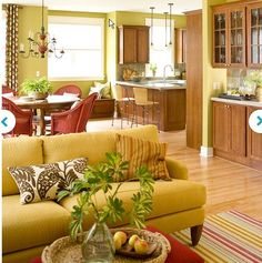 I Wish Re Upholstering My Couch Could Be Magically Done For Me... I Love  This Mustard Yellow Color.