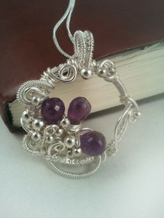 Wire Wrapped Amethyst Pendant – Briolette Wire Wrapped Jewellery Handmade