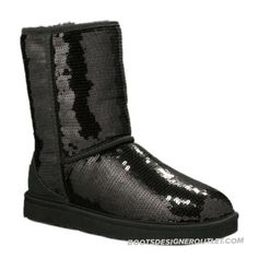 Stunning Classic Sparkle 3161 Sequin UGG Boots - Black