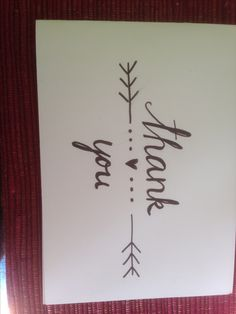 Thank you card Hand lettering