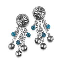 Carolyn Pollack Jewelry | Native Pearl and Turquoise Bead Earrings