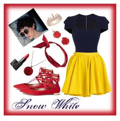 """""""Snow White"""" by mali-likes ❤ liked on Polyvore featuring Roland Mouret, Merci Me London, Anne Sisteron, yunotme, NARS Cosmetics, Aquazzura and DOSE of ROSE"""