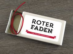Roter Faden rot lustige Idee !