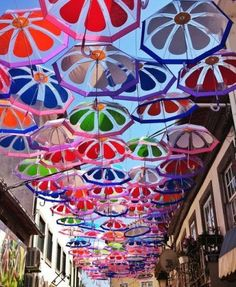 Must See... a Thousand Umbrellas in the Sky in Portugual
