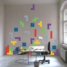 Tetris Wall Art Stickers  |  Trendy Wall Designs