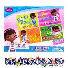 Doc McStuffins 4 in 1 Jigsaw Puzzle Box (30 Piece) $16.95 (eBay Store: kidscharacterworld2013 email: kidscharacterworld@live.com.au) http://www.ebay.com.au/itm/Doc-McStuffins-Jigsaw-Puzzles-4-in-1-30pcs-Crown-New-Kids-Girls-Licensed-BNIB-/171376328346?