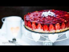 Torcik jogurtowo-truskawkowy   Ugotowani.tv HD - YouTube Jello Desserts, Food Design, Cheesecake, Cookies, Sweet, Youtube, Life, Recipies, Cheesecake Cake