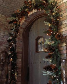 Evergreen Hanging Garland - traditional - holiday outdoor decorations - Horchow