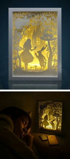 Lightbox Alice in wonderland paper cut Light box Night light . Lightbox Alice in wonderland paper cut Light box Night light More stuff Kirigami, Paper Art, Paper Crafts, Licht Box, Papier Diy, Art Diy, Wonderland Party, Alice In Wonderland Crafts, Alice In Wonderland Bedroom