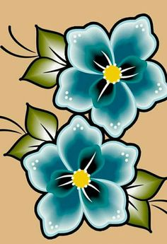 Easy Flower Drawings, Colorful Drawings, Beadwork Designs, Embroidery Designs, Painting Patterns, Fabric Painting, Flower Phone Wallpaper, Floral Drawing, Pebble Painting