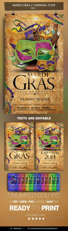 Another possible Mardi Gras poster a bit more regal.