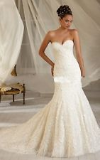 Free Shipping Hot white/ivory Elegant Wedding Dress Bride Gown Custom Size2-28