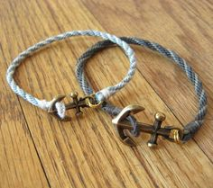 nautical bracelet from braids and charms