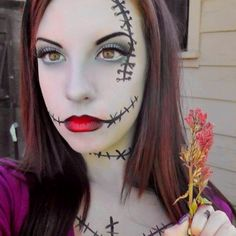 Nightmare before Christmas party - Sally inspired Halloween makeup