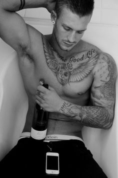 Tattooed Hunk -  Over 30,000 Tattoo Ideas and Pictures Enjoy! http://www.tattooideascentral.com/tattooed-hunk-2/