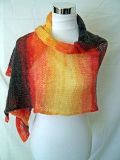 Whisper Wrap Knit Color Scale Shawl and Scarf by ZyloHandmade