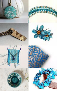 Blue and gold by Vlada19 on Etsy--Pinned with TreasuryPin.com