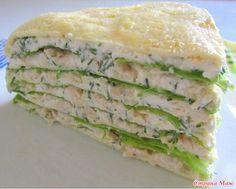 Белковый торт с куриной грудкой Идеальный ужин для стройнеющих после праздников) Потребуется: 10 белков, 2 желтка, 1 куриная грудка, 200 г нежирного творога,