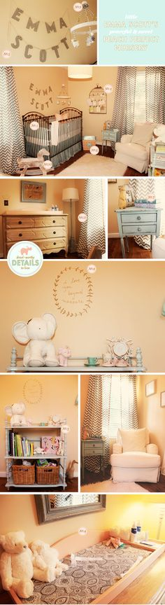 emma scott's peach perfect nursery  THEMES