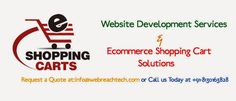 Web Development Ecommerce Shopping Cart Solutions  #webDevelopment #ecommerce #shoppingCartSolutions