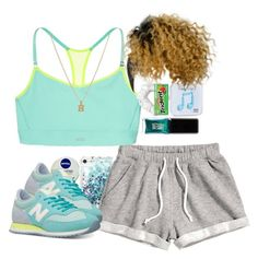 """Work it out"" by mindless-asia ❤ liked on Polyvore featuring Nivea, Marc by Marc Jacobs, H&M, New Balance, Happy Plugs, Victoria's Secret, SonyaRenée, American Apparel and Jin Soon"