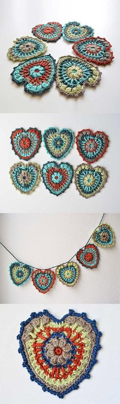 Hearty Garland Crochet Pattern for purchase