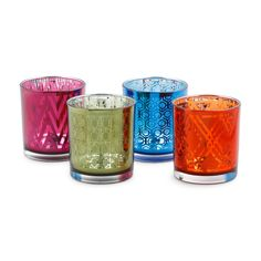 Love this Graphic Colored Metallic Votives for $3 on C. Wonder