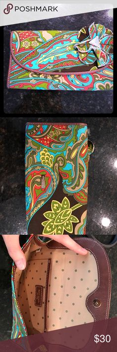 Kate Spade clutch w dust bag; excellent condition Paisley, very colorful and fun kate spade Bags Clutches & Wristlets