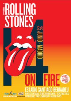 Cartel del próximo show de The Rolling Stones en Madrid #StonesMadrid