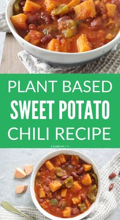 Healthy plant based chili recipe with sweet potato. No oil added and all whole food ingredients. This meal is also high in vitamins and minerals and gluten free.