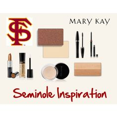 """In need of Mary Kay products anywhere within the U.S. or interested in becoming a consultant? Contact me w questions! annaprince@marykay.com www.marykay.com/annaprince """"Game Day Look - FSU"""" by natalie-edmondson"""