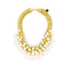 Collar perla floral