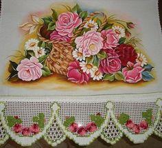 pintura em tecido rosas - Pesquisa Google
