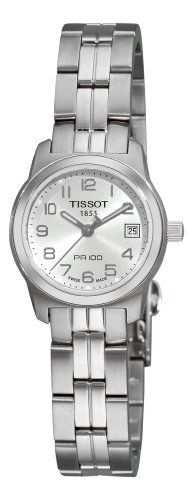 Tissot Women's T0492101103200 PR 100 Silver Arabic Numeral Dial Watch Tissot. $206.50. Round stainless-steel case. Stainless-steel bracelet. Silver dial. Water-resistant to 330 feet (100 M). Quartz movement. Save 25%!