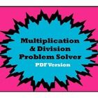 FREE This package includes two 8 ½ x 11 posters and one graphic organizer that can be used to help students make sense of multiplication and division wo...