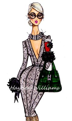 Hayden Williams Fashion Illustrations, 'On The Go Style' by Hayden Williams