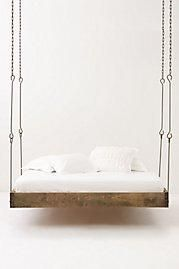 I found 'Barnwood Hanging Bed' on Wish, check it out!