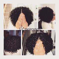 Crochet braids using Freetress Gogo curl hair.
