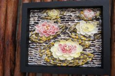 Seashell Water Lilies, beach decor, seashell flowers, seashell art, seashell crafts, wall hanging