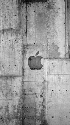 Apple Logo Concrete Wall iPhone 5s Wallpaper