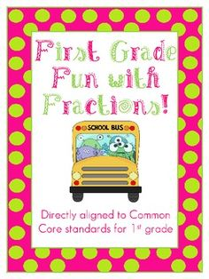Fun with Fractions First Grade Common Core Packet - lots of worksheets and activities to teach the 1st grade fractions standard including half of/fourth of, equal parts, etc.!