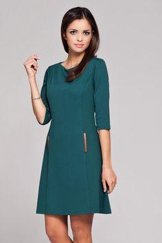 Green Skater Dress LAVELIQ