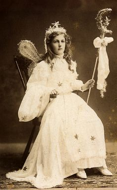 Antique photo ..Fairy Queen..owned by lovedaylemon