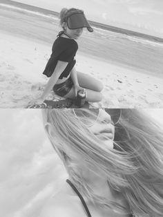 Beach b&w My Mood, Pink Silk, Camilla, Transgender, Beach, Model, Instagram, Fashion, Moda